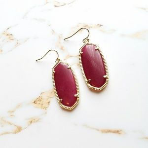 Kendra Scott elle drop burgundy earrings